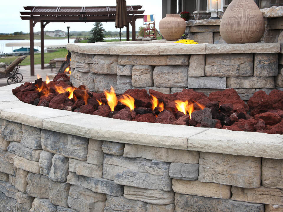 gas fire features