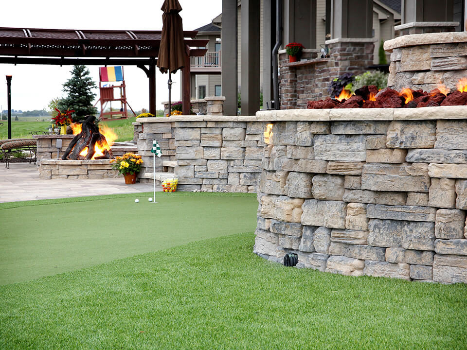 outdoor loving - putting green patio