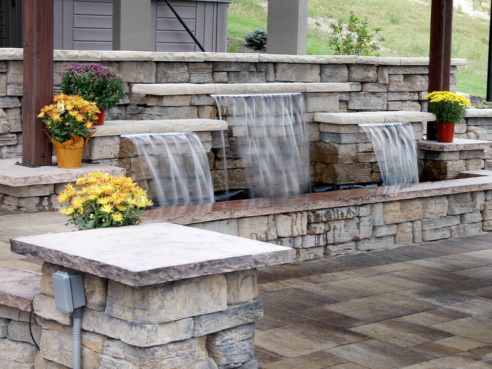 water feature - patio waterfall
