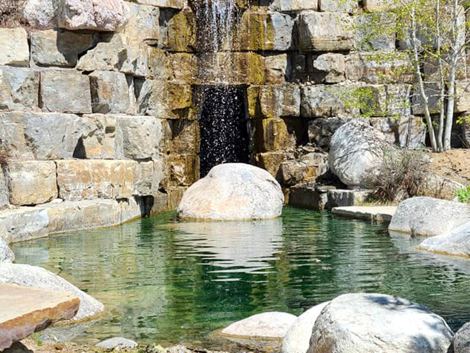 water feature - pond water features - waterfall