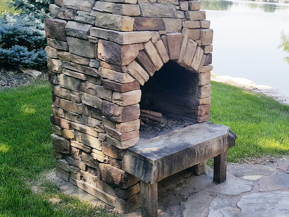wood burning fire features